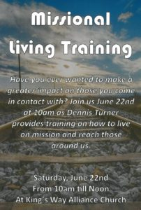 Missional Living Training @ King's Way Alliance